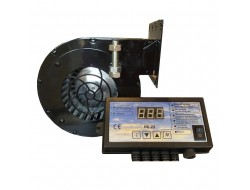 Автоматический поддув воздуха в котле регулятор+вентилятор Металл
