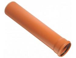 Труба канализационная 110 * 1м 3,2 рыжая Sinikon