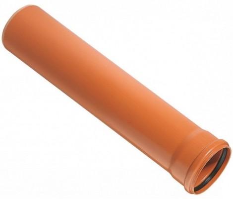 Труба канализ. Ø 200 * 1 м    4,9   (рыжая)   SINIKON