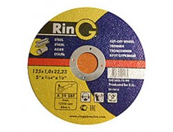 Диск шлифованый по металлу 125*6*22,2 27п RING