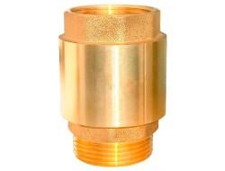 Клапан обратный с латунным штоком усиленный внутренняя наружная резьба 1 TIM