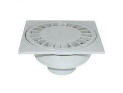 Трап для душевых и ванных комнат  ТП  50 вертикальный пластик решетка 150*150