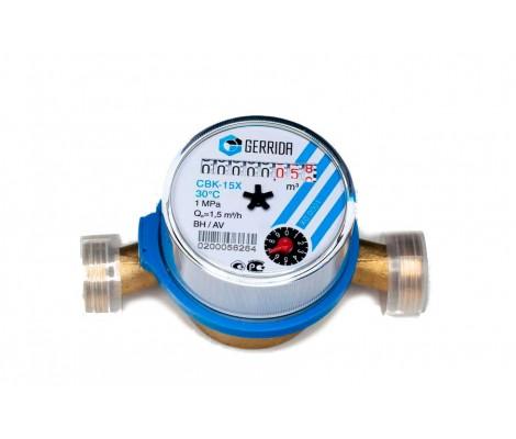Счетчик для холодной воды с обратным клапаном CBK 15 Х Gerida