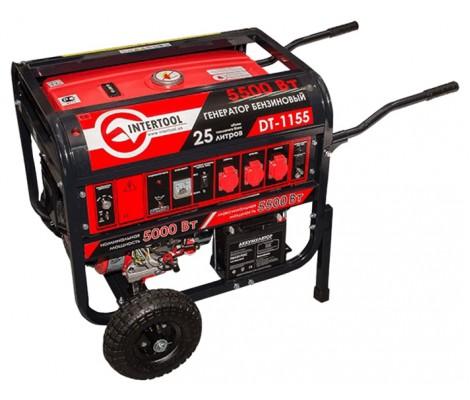 Бензогенератор  InterTool DT-1155   (5,5 кВт)