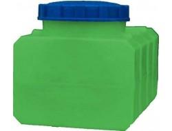 Емкость       100л   прямоугольная  Зеленая (в35*д68*ш48)