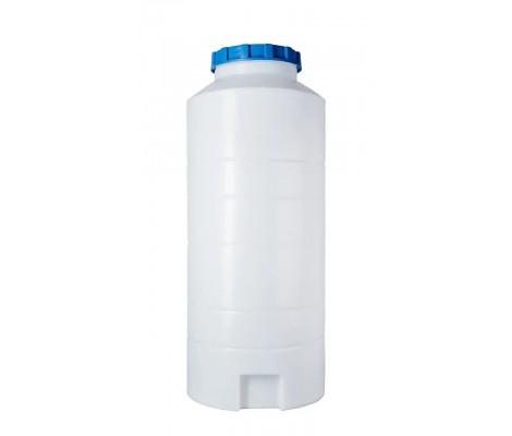Ёмкость вертикальная Белая 300л (выс:135см; Ø 56см) Байдар Пласт