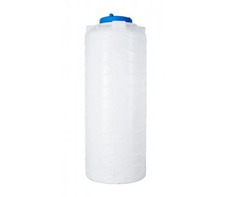 Ёмкость вертикальная Белая 1000л (выс:222см; Ø:76см) Байдар Пласт