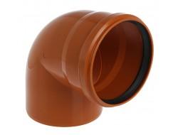 Отвод канализационный 110/90° рыжий  Flextron