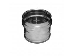 Заглушка внешняя для трубы (430/0,5 мм) Ф100 (нижняя) Ferrum