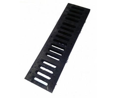 Решетка полимерная В-125 черная 0,5м