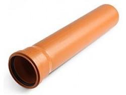 Труба канализационная 110* 0,5м  3,2 мм рыжая EURO PLAST