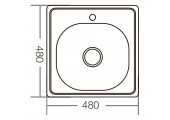 Мойка decor Z4848-06-160D Zerix