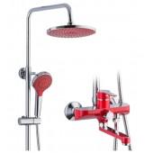 Душевая система смеситель  хром     F2443  красная     FRAP