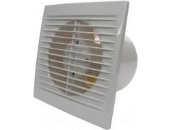 Вентилятор осевой вытяжной с сеткой, шнуровым тяговым выключателем Домовент 125С 1В