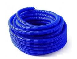 Труба защитная гофрированная для труб 20 мм (синяя) Dn 28 мм