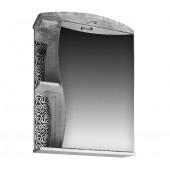 Шкаф-Зеркало для ванной комнаты Фламенко 553/С Flamenco (розы белые, со светильником)