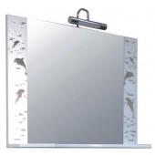 Зеркало для ванной Эльбрус 800/с Дельфин со светильником (белый)