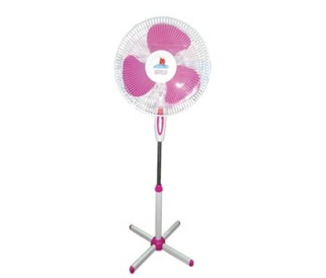 Вентилятор напольный Комфорт CRSF - ВН16 бело-розовый