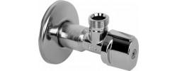 """Кран угловой для подключения сантехнических приборов с фильтром 1/2"""" Tcm"""