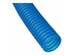 Труба защитная гофрированная для труб 16 мм синяя Dn 25 мм