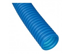 Труба защитная гофрированная для труб 25 мм (синяя) Dn 35 мм