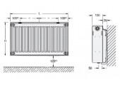 Радиатор стальной VK-Profil 500/22/ 400 Нижнее подключение Buderus