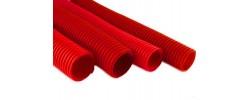 Гофро-рукав Ø29 красный пешель 25м