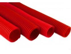 Гофро-рукав  (пешель)      29  (25м.бухта)   красный
