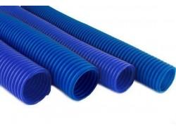 Гофро-рукав  (пешель)     36  (20м.бухта)   синий/красный