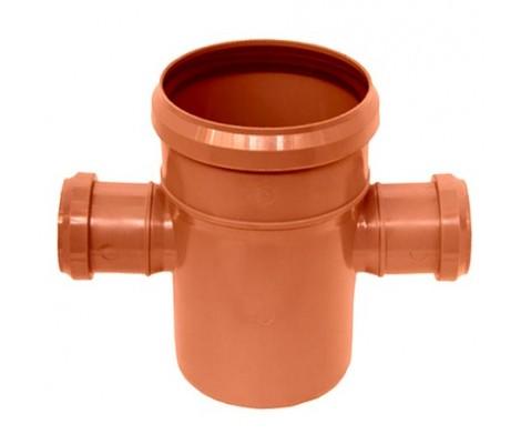 Крестовина канализационная 110/110/50/90° (рыжая) FLEXTRON