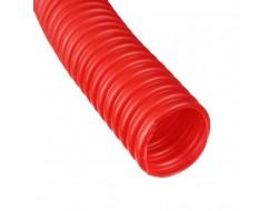 Труба гофрированная CorrugatedPipe 20 мм красная Dn 28 мм 50 м HEISSKRAFT