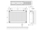Радиатор стальной K-Profil 300/22/ 500 Buderus