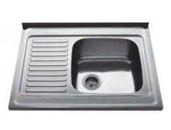 Мойка для кухни FRAP 0.8 мм накладная  80*60*18 декор           FD6080R   (правая)
