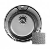 Мойка для кухни FRAP 0.6 мм круглая 49*17,5 декор               FD60490