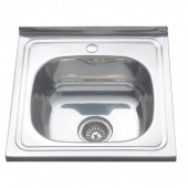 Мойка для кухни FRAP 0.6 мм накладная  50*50*16,5 глянец           F65050     (левая)