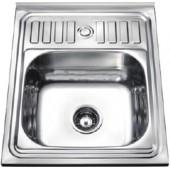 Мойка для кухни FRAP 0.6 мм накладная  60*50*16,5 глянец           F65060    (левая)