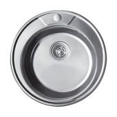 Мойка для кухни FRAP 0.8 мм круглая 49*18 глянец               F490