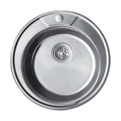 Мойка для кухни FRAP 0.8 мм круглая 49*18 декор                 FD490