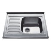 Мойка для кухни FRAP 0.8 мм накладная  80*60*18 глянец           F6080     (левая)