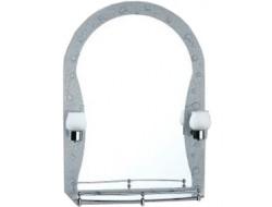 Зеркало с полками для ванной комнаты  с светильником   70*50   F652-33        FRAP