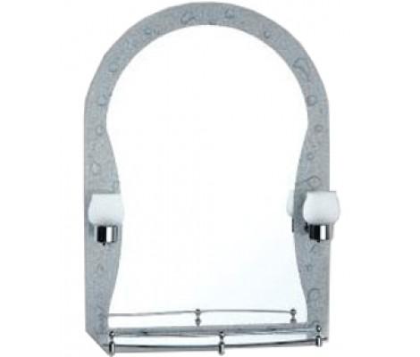 Зеркало с полками для ванной комнаты со светильником 70*50 F652-33 Frap