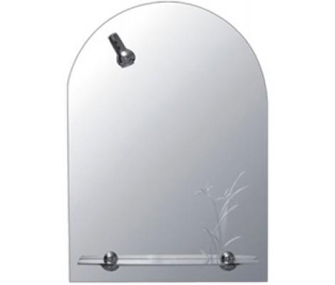 Зеркало с полками для ванной комнаты со светильником F632 Frap