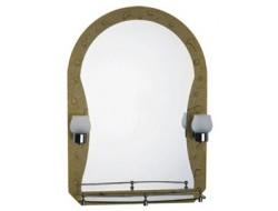 Зеркало с полками для ванной комнаты  с светильником   70*50   F652-11        FRAP