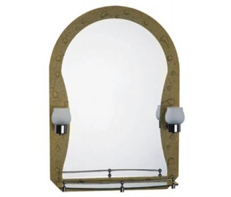 Зеркало с полками для ванной комнаты  с светильником F652-11 FRAP