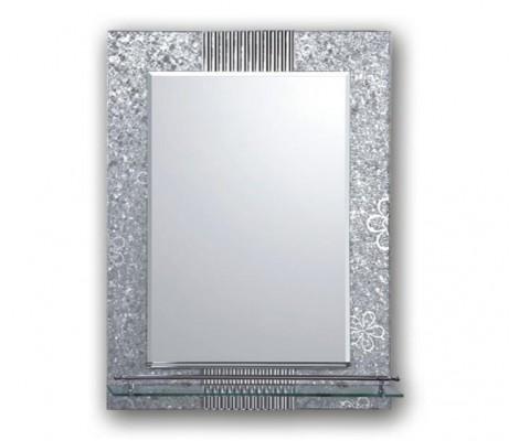 Зеркало с полками для ванной комнаты  рисунок F656 Frap