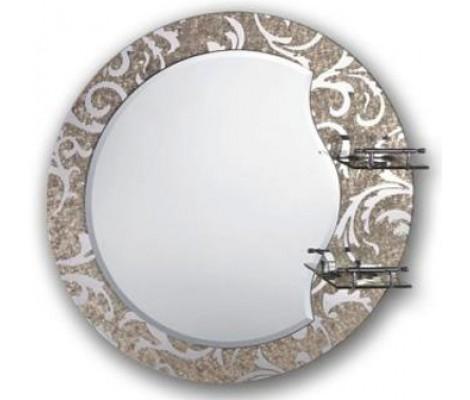 Зеркало с полками для ванной комнаты  рисунок F655 FRAP