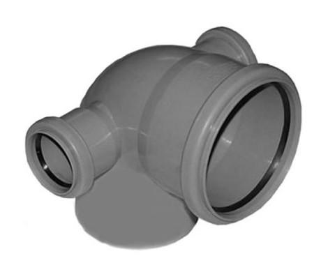 Отвод канализационный 110/50/90° левая и правая FLEXTRON