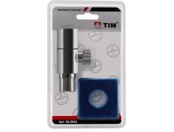 """Кран для подключения сантехнических приборов хром квадрат 1/2"""" - 3/4"""" BL5823 TIM"""