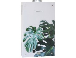 Колонка газовая Декор 210.01 тропические листья 10л (340x590x150 мм) Genberg