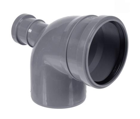 Отвод канализационный 110/50/90° назад FLEXTRON